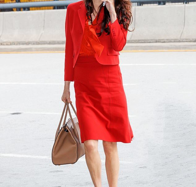 Amal Clooney Glows in matching skirt and blazer, Three months after welcoming twins